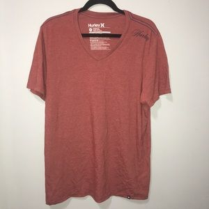 XL Hurley Premium V neck Red T-shirt